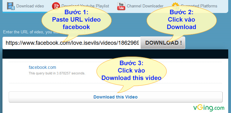 Enter the URL of video, you want to download from
